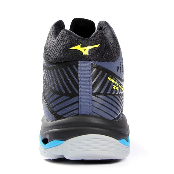 2123539a Волейбольные кроссовки мужские Mizuno Wave Lightning Z4 MID  Черный/Желтый/Голубой