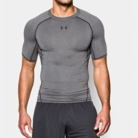 Компрессионная футболка Under Armour HeatGear® Armour Short Sleeve Compression Shirt Carbon