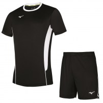 Волейбольная форма мужская Mizuno Authentic High-Kyu Tee / High-Kyu Short Черный/Белый