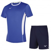 Волейбольная форма мужская Mizuno Authentic High-Kyu Tee / High-Kyu Short Синий/Темно-синий