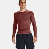 Компрессионная футболка Under Armour RUSH™ HeatGear® Compression Long Sleeve Cinna Red