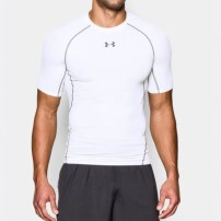 Компрессионная футболка Under Armour HeatGear® Armour Short Sleeve Compression Shirt White