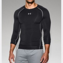 Компрессионная футболка Under Armour HeatGear® Armour Long Sleeve Compression Shirt Black