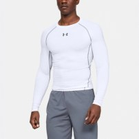 Компрессионная футболка Under Armour HeatGear® Armour Long Sleeve Compression Shirt White