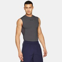Компрессионная майка Under Armour HeatGear® Armour Sleeveless Compression Shirt Carbon