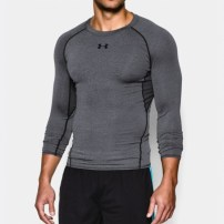 Компрессионная футболка Under Armour HeatGear® Armour Long Sleeve Compression Shirt Carbon