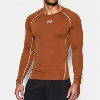 Компрессионная футболка Under Armour HeatGear® Armour Long Sleeve Compression Shirt Orange