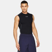 Компрессионная майка Under Armour HeatGear® Armour Sleeveless Compression Shirt Black
