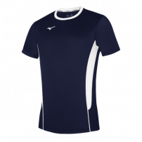 Волейбольная футболка мужская Mizuno Authentic High-Kyu Tee Темно-синий/Белый