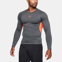 Компрессионная футболка Under Armour HeatGear® Armour Long Sleeve Compression Shirt Rhino Gray