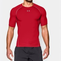 Компрессионная футболка Under Armour HeatGear® Armour Short Sleeve Compression Shirt Red